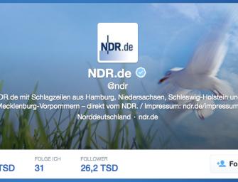 Ein NDR, <br>zwei Twitteraccounts
