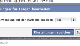 Wie man &#8222;Facebook-Fragen&#8220; <br> für immer los wird // UPDATE: DOCH nicht möglich!