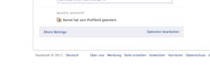 Facebook-Pinnwand Optionen