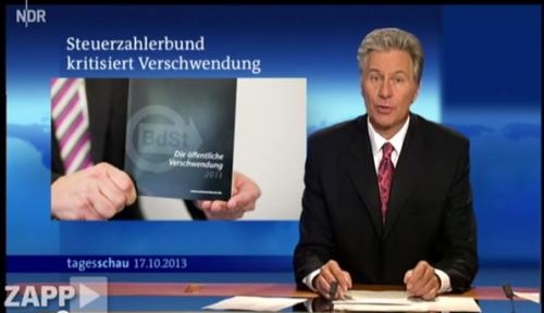 """Das """"Schwarzbuch"""" schafft es auch regelmäßig in die Tagesschau."""