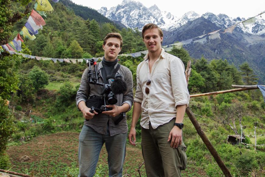 Dennis & Patrick Weinert in Langtang, Nepal (Copyright: Weinert)