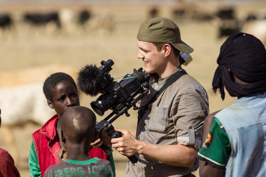 Patrick Weinert in Burkina Faso (Copyright: Weinert)