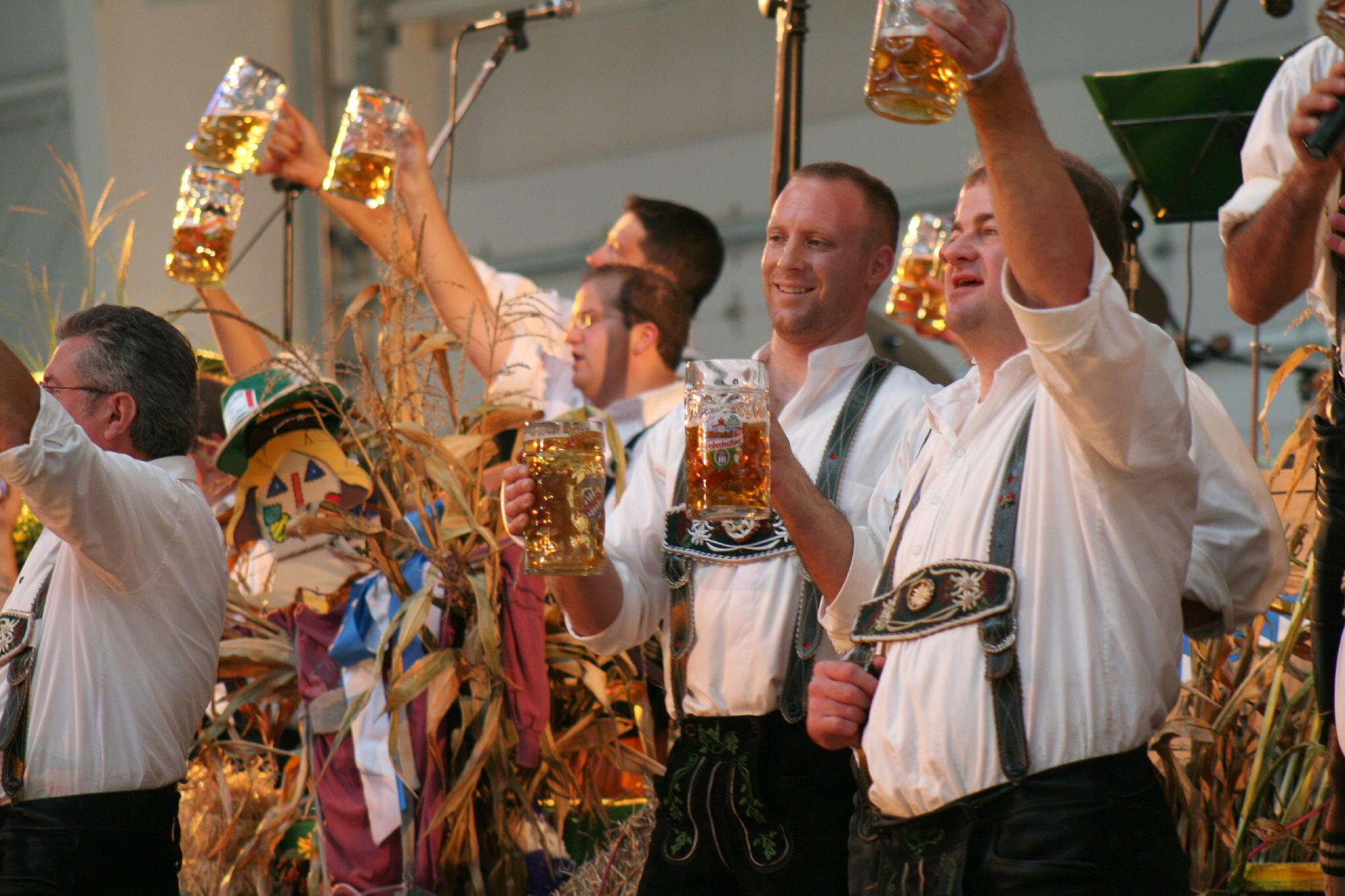 Oktoberfest. Yes, this is strange for people of northern German, too.